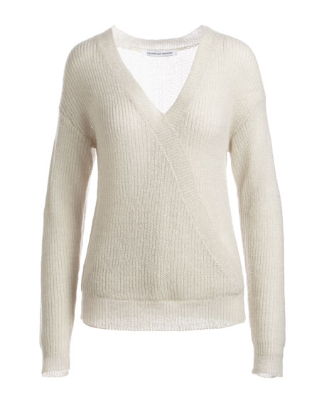 Sterberg Crossover V-Neck Knit Sweater