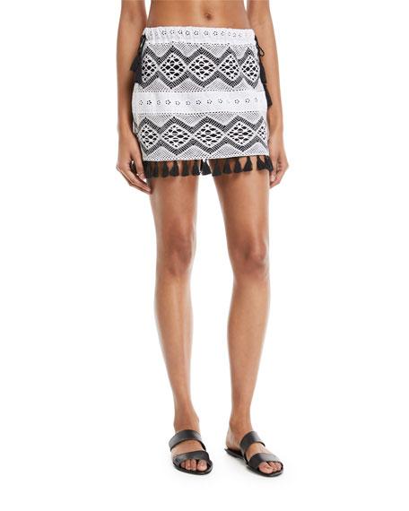 Hattusa Broderie Anglaise Mini Skirt