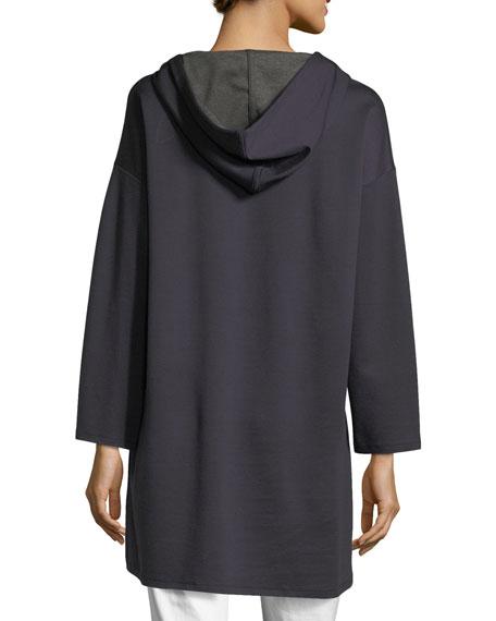 Long-Sleeve Oversized Hooded Tunic