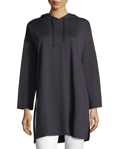 Long-Sleeve Oversized Hooded Tunic