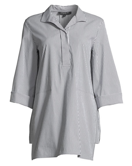 Desirae Freeport Striped Oversized Blouse