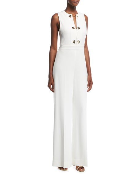Derek Lam 10 Crosby Sleeveless Jumpsuit with Grommet