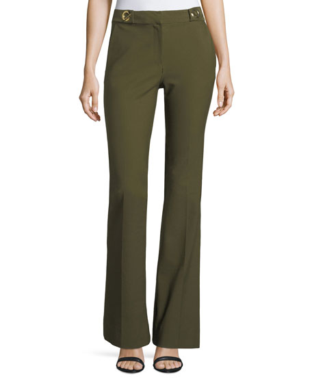 Derek Lam 10 Crosby Flared Crepe Trousers with