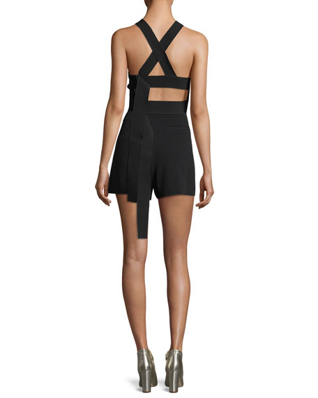 Cropped Shell Top with Elastic Back