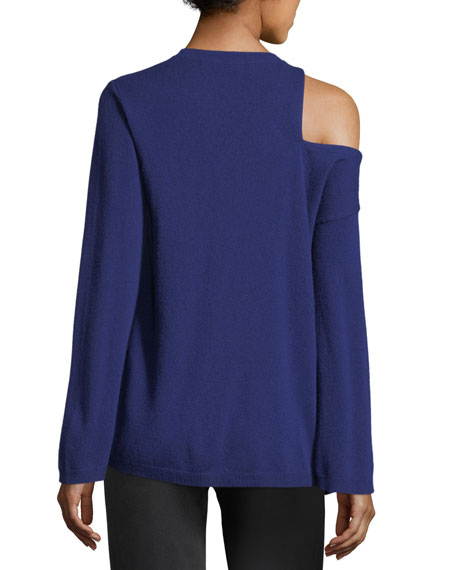 Hamilton Cutout-Shoulder Wool-Cashmere Sweater