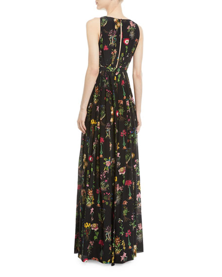 Amazing neiman marcus evening gown images wedding dress ideas no 21 sleeveless floral print long evening gown neiman marcus junglespirit Gallery