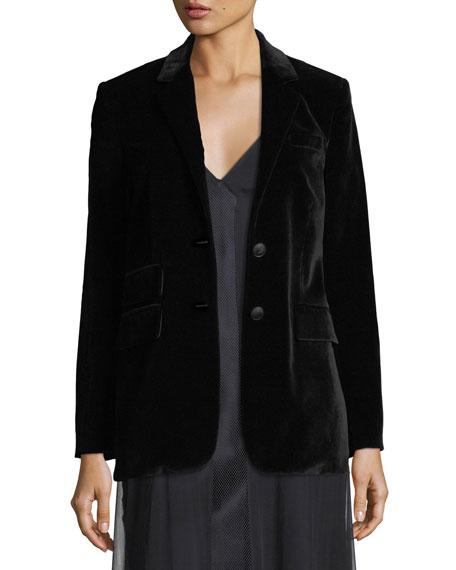 Rag & Bone Rona Two-Button Velvet Blazer