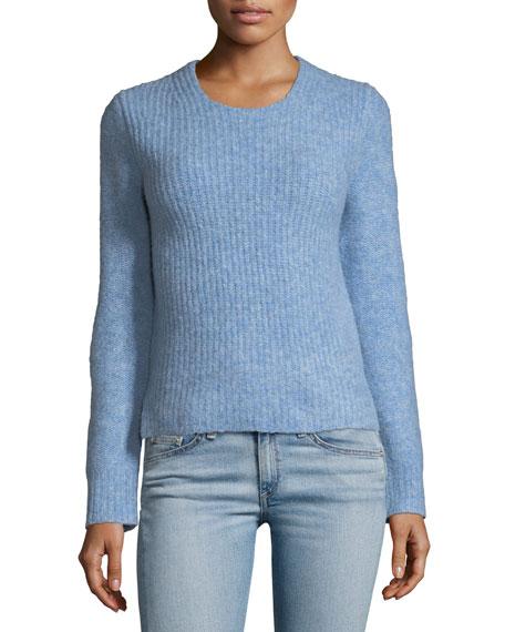 Rag & Bone Francie Crewneck Wool-Blend Sweater with