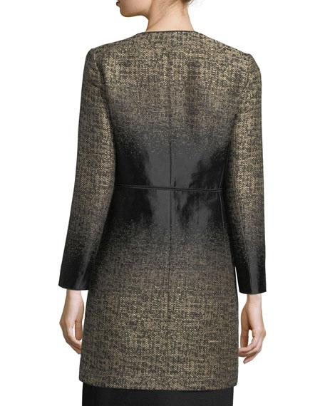 Erin Equinox Long-Sleeve Jacquard Coat