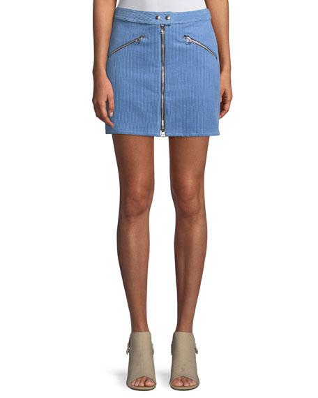 Rag & Bone Racer Corduroy Short A-Line Skirt