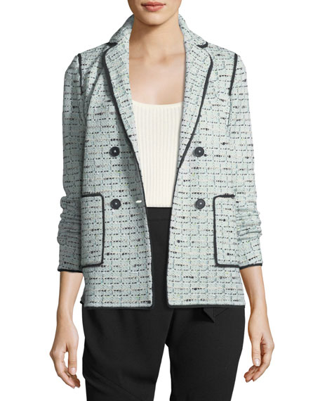 St. John Collection Adriana Tweed Double-Breasted Jacket