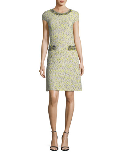 Romee Tweed Fringe-Pocket Dress