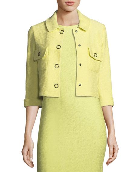 St. John Collection Hannah-Knit Front-Snap Jacket and Matching