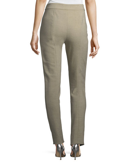 Summer Bella Double-Weave Skinny Pants
