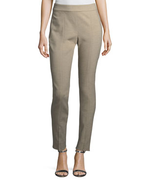 7be5a4e909bb St. John Collection Summer Bella Double-Weave Skinny Pants