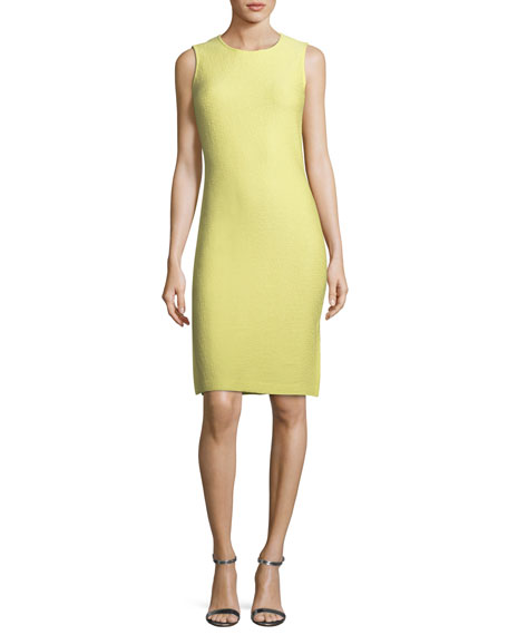 Hannah Side-Slit Knit Sheath Dress