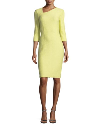 Hannah Asymmetric-Knit Dress