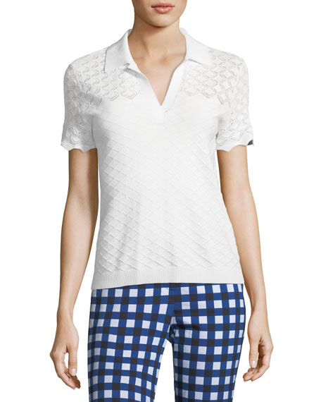 St. John Collection Gingham Stretch Capri Pants and