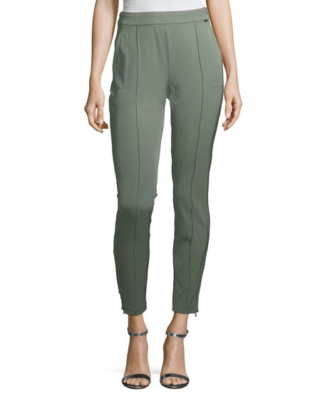 St. John Collection Mid-Rise Stretch Tech Twill Leggings