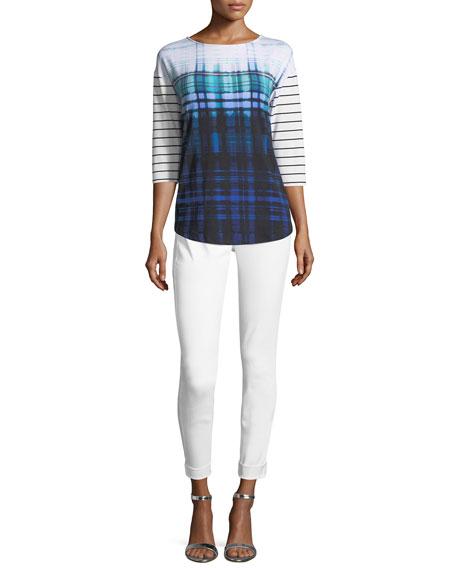 Striped & Plaid Contrast Shirt