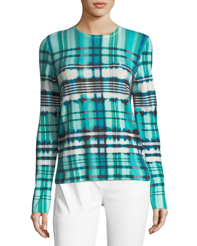 Ombe Plaid Cashmere Sweater