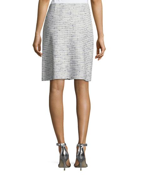 Josephine Tweed Knit Pencil Skirt