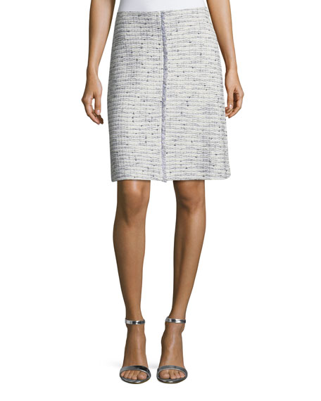 St. John Collection Josephine Tweed Knit Pencil Skirt