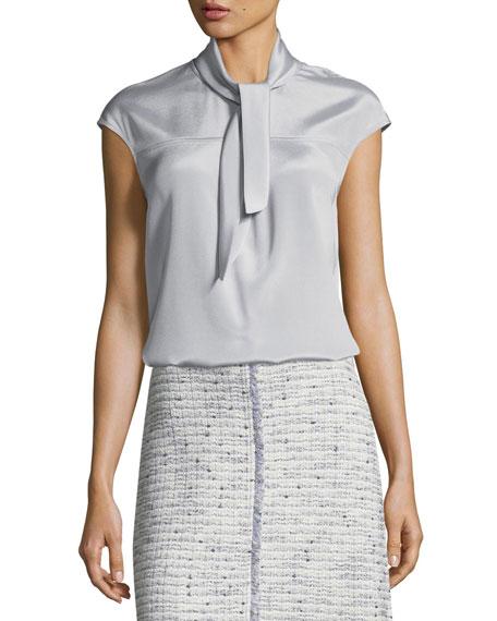 Silk Blouse w/ Detachable Collar