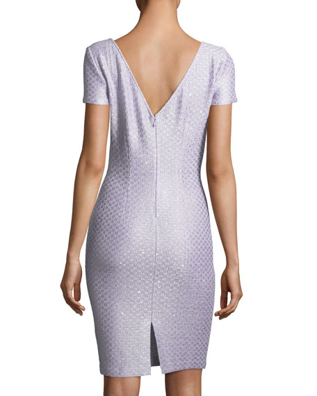 Hansh Sequin-Knit Cocktail Dress