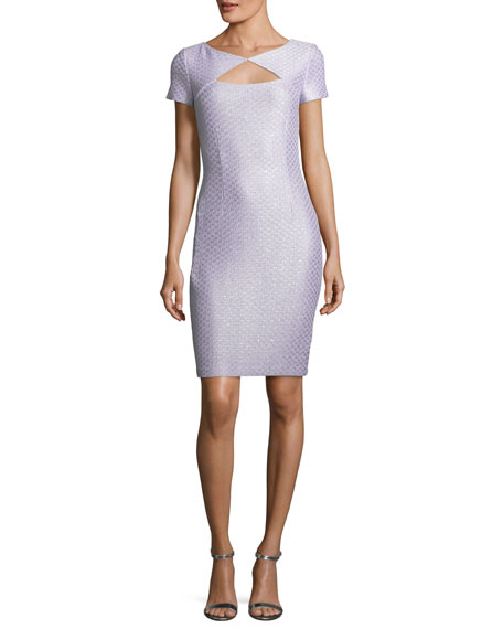 St. John Collection Hansh Sequin-Knit Cocktail Dress