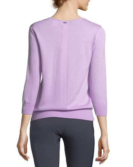 Falling Flower Pullover Wool Sweater