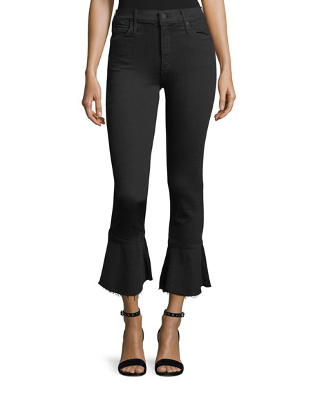 MOTHER Cha Cha Cropped Bell Flare Jeans