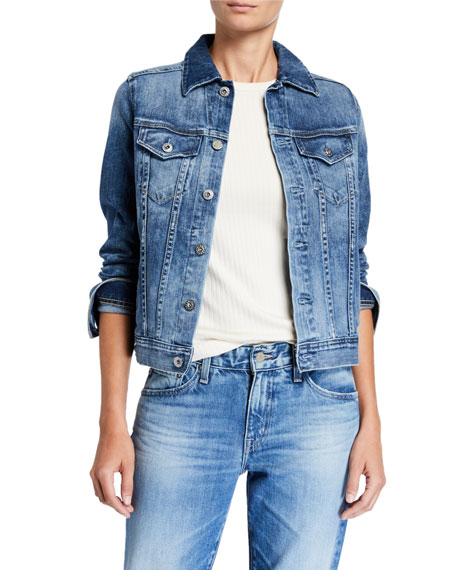 AG Mya Button-Down Denim Jacket