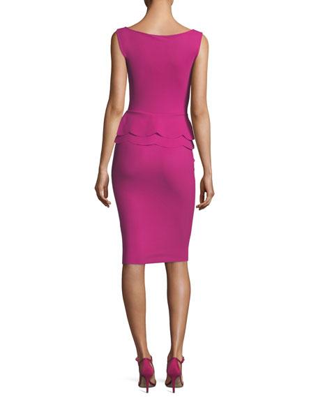 Sebla Sleeveless Peplum Cocktail Dress