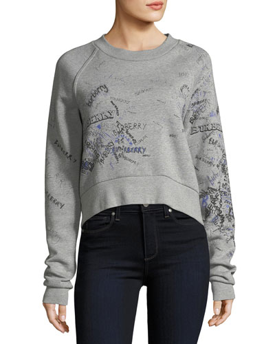 Scribble-Print Sweatshirt