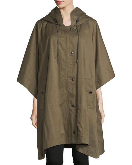 Burberry Samdale Cotton Oversized Parka w/ Hood