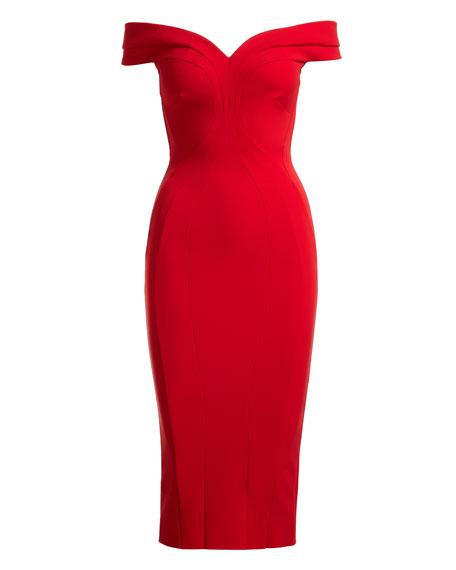 CHIARA BONI LA PETITE ROBE Dresses GENA OFF-THE-SHOULDER SHEATH DRESS
