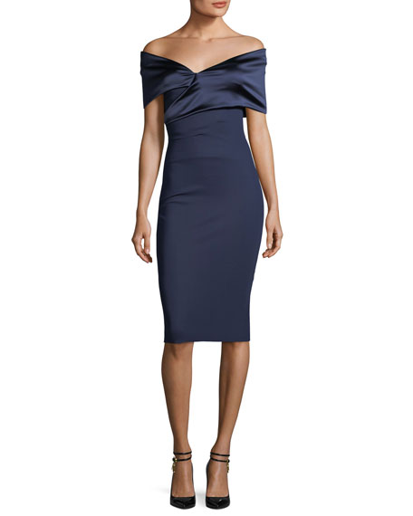 Chiara Boni La Petite Robe Benje Off-the-Shoulder Cocktail