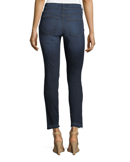 Alina Mid-Rise Released-Hem Ankle Jeans