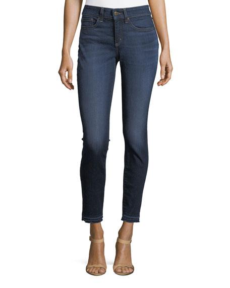 NYDJ Alina Mid-Rise Released-Hem Ankle Jeans