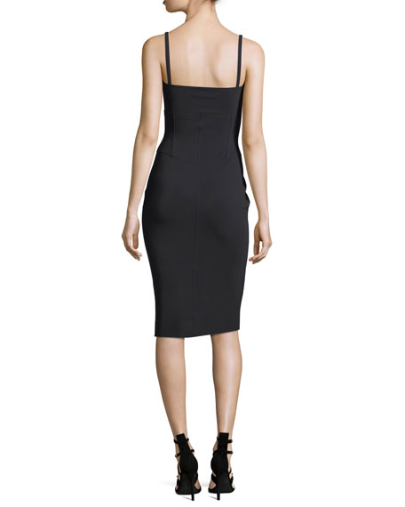 Lilli Spaghetti-Strap Cocktail Sheath Dress