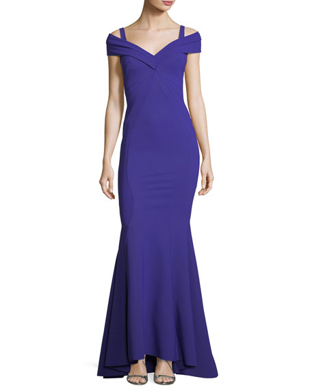 Tally Cold-Shoulder Mermaid Gown