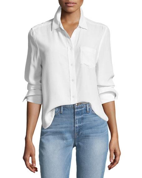 Equipment Huntley One-Pocket Short Silk Shirt