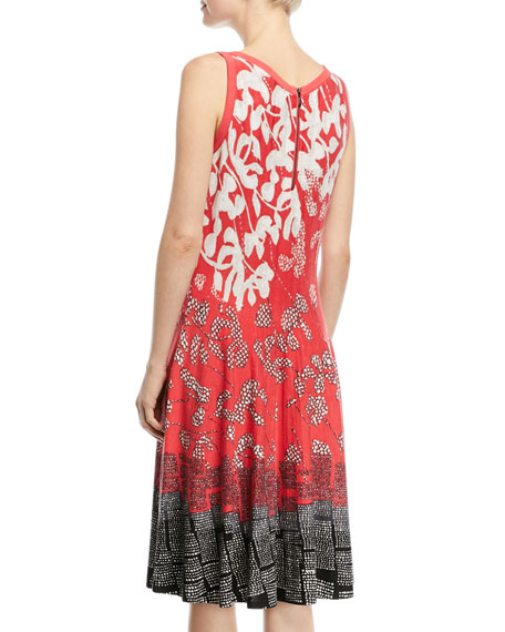 Terrace Twirl Sleeveless A-Line Dress, Petite