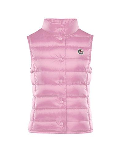 Liane Down Lightweight Down Puffer Vest, Pink, Size 8-14