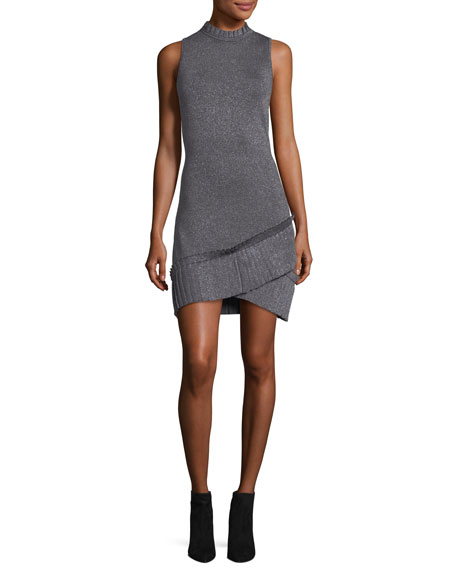 Mace Sleeveless Fitted Metallic Knit Dress