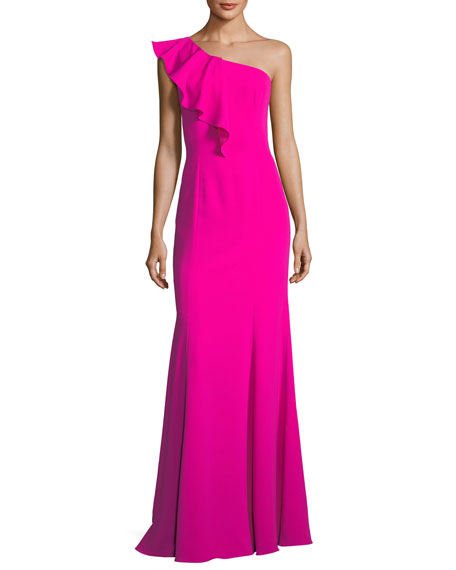 Osgood Ruffle One-Shoulder Gown