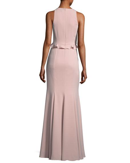 Joseph Asymmetric Sleeveless Ruffle Dress