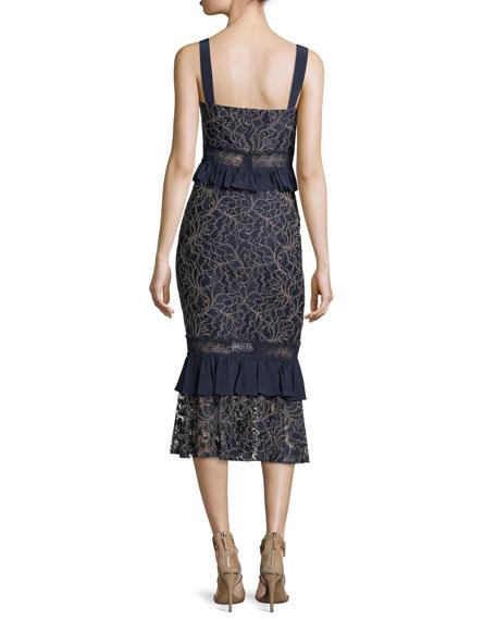 Essena Sleeveless Peplum Midi Dress