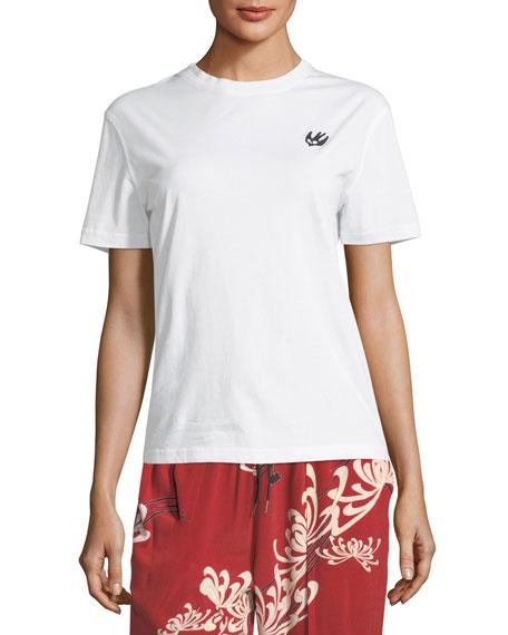 McQ Alexander McQueen Classic Crewneck Cotton T-Shirt